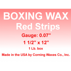"Boxing Strip Wax Red Gauge 0.07"" 1 lb"