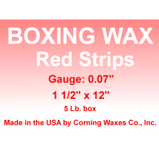 "Boxing Strip Wax Red Gauge 0.07"" 5 lb"
