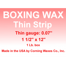 "Boxing Strip Wax Red Thin Gauge 0.05"" 1 lb"