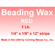 Beading/Carding Wax Red 1 lb Strips